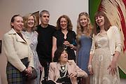 MABEL MCEWEN; FLORA MCEWEN; ADAM MCEWEN; SAM MCEWEN; BROOKE MASON; CHRISTABEL MCEWEN; BELOW: ROMANA MCEWEN,Exhibition opening.- Rory McEwen - The Colours of Reality,   Shirley Sherwood Gallery of Botanical Art, Kew Gardens, TW9 2AH , London.  May 20, 2013