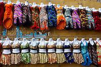 Egypte, la côte méditerranéenne, Alexandrie, le souk aux tissus // Egypt, Alexandria, Textile souk (market)