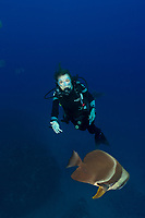 Sylvia Earle with Fish during dive