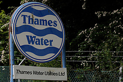 © Licensed to London News Pictures. 10/06/2013<br /> Thames Water paid no corporation tax last year during a year in which revenues soared to £1.8billion and it received £5million credit from the Treasury. An old Thames Water sign Eynsford,Kent.<br /> Photo credit :Grant Falvey/LNP