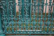 66512-00110 Iron fence and decorations on John Rutledge House Inn Bed & Breakfast, Charleston, SC