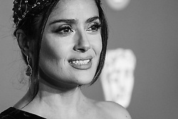 Salma Hayek attending 72nd British Academy Film Awards, Arrivals, Royal Albert Hall, London. 10th February 2019
