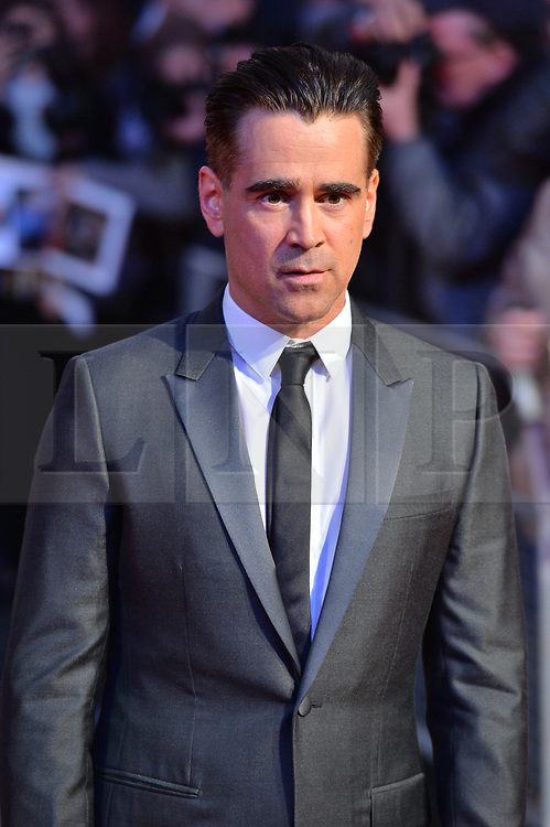 © Licensed to London News Pictures. 12/10/2017. London, UK. COLIN FARRELL and attends the UK film premiere of Killing Of A Sacred Deer showing as part of the 51st BFI London Film Festival. Photo credit: Ray Tang/LNP