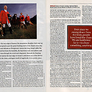 Sports Illustrated story about English style fox hunting in the United States.