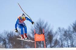 February 15, 2018 - Jeongseon, Gangwon, South Korea - Peter Fill of Italy competing in mens downhill at Jeongseon Alpine Centre at Jeongseon , South Korea on February 15, 2018. (Credit Image: © Ulrik Pedersen/NurPhoto via ZUMA Press)