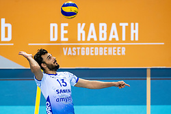 Hossein Ghanbari of Lycurgus in action during the league match between Draisma Dynamo vs. Amysoft Lycurgus on March 13, 2021 in Apeldoorn.