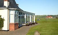 PORTRUSH - Ladie's clubhouse (l) emt het clubhuis.ROYAL PORTRUSH GOLF CLUB. The Dunluce Championship Course.COPYRIGHT KOEN SUYK