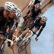 Marc Ryan, New Zealand,  (right) in action during the Men Omnium at the 2012 Oceania WHK Track Cycling Championships, Invercargill, New Zealand. 21st November  2011. Photo Tim Clayton