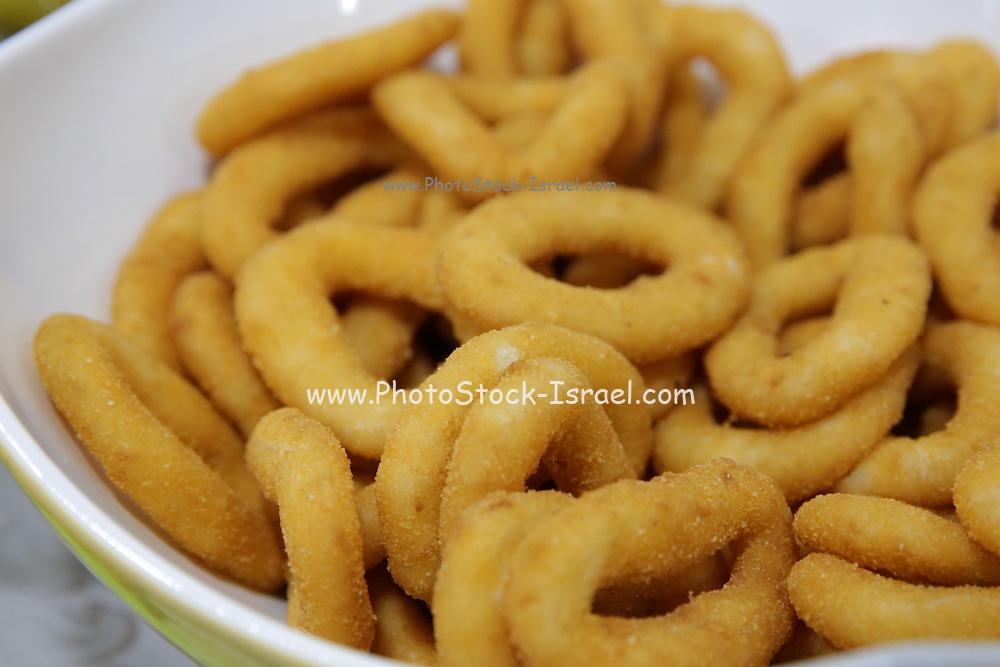 Deep fried breaded onion rings