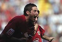 Photo: Jonathan Butler.<br /> Bristol City v Yeovil Town. Coca Cola League 1. 14/04/2007.<br /> Bristol celebrate Lee Johnson goal.