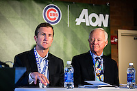 Aon's summit held at Wrigley Field to bring together top business people in their fields.