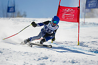 Francis Piche Invitational Giant Slalom U14 boys first run with Gunstock Ski Club.  <br /> ©2017 Karen Bobotas Photographer
