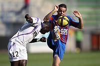 FOOTBALL - FRENCH CHAMPIONSHIP 2010/2011 - L1 - SM CAEN v TOULOUSE FC - 24/04/2011 - PHOTO ERIC BRETAGNON / DPPI - CHEIK MBENGUE (TOU) / ROMAIN HAMOUMA (CAEN)