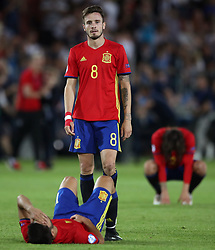 Spain's Niguez Saul stands dejected after the final whistle