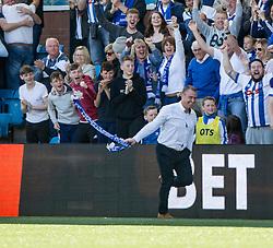 Kilmarnock's Lee Clark celebrates Kilmarnock's third goal. Kilmarnock 4 v 0 Falkirk, second leg of the Scottish Premiership play-off final.