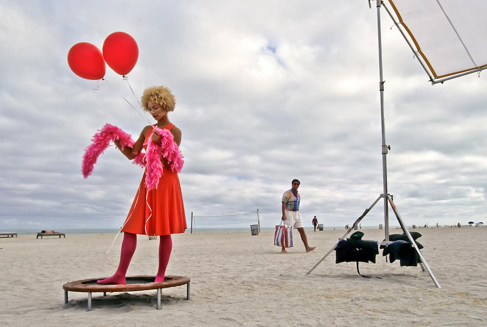 A fashion shoot on Miami's South Beach.