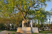 La Verendrye mounument in St. Boniface. On Tache Avenue across the St. Boniface Hospital<br /> Winnipeg<br /> Manitoba<br /> Canada