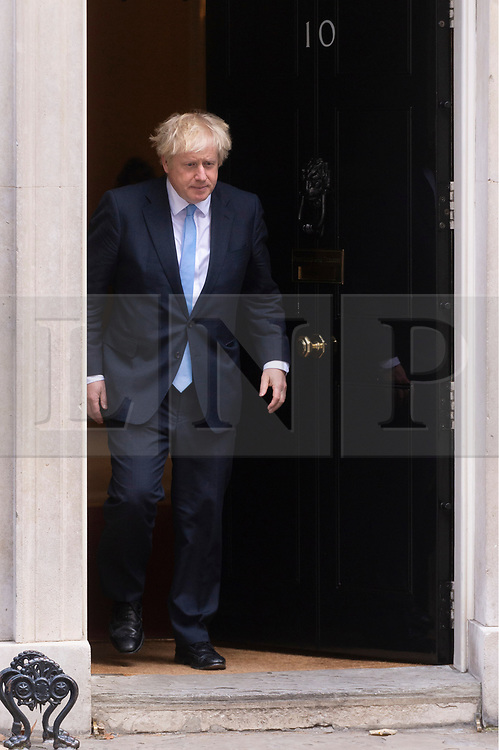 © Licensed to London News Pictures. 05/09/2019. London, UK. British Prime Minister Boris Johnson meets US Vice President Mike Pence for a meeting at No. 10 Downing St. Photo credit: Ray Tang/LNP