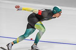 February 23, 2018 - Pyeongchang, Gangwon, South Korea - Daniel Greig of Australia at 1000 meter speedskating at winter olympics, Gangneung South Korea on February 23, 2018. (Credit Image: © Ulrik Pedersen/NurPhoto via ZUMA Press)
