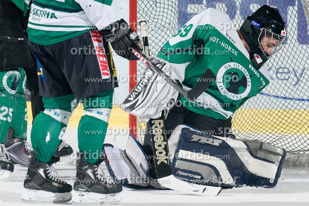 Jernej Cerin of HK Olimpija during ice-hockey match between HK Olimpija and HK Jesenice Mladi in SLOHOKEJ league, on Januar 8, 2011 at Hala Tivoli, Ljubljana, Slovenia. (Photo By Matic Klansek Velej / Sportida.com)