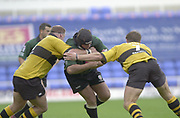 Reading Berkshire, 29/09/02<br /> London Irish vs Wasps,<br /> Exiles Naka Drotske, trying to break though the Wasps defence. during the, ZURICH PREMIERSHIP RUGBY match at the, Madejski Stadium,  [Mandatory Credit: Peter Spurrier/Intersport Images]