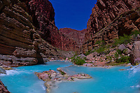 Havasu Creek, Whitewater rafting trip (oar trip) on the Colorado River in Grand Canyon, Grand Canyon National Park, Arizona USA
