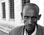 Genocide survivor Emmanuel Murangira (53 years old) was shot in the forehead and lost his wife and five children at the technical school at Murambi where 40-60,000 Tutsis were massacred over four days by Hutu extremists during the 1994 genocide that killed one million.