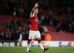 Arsenal's Jack Wilshere during the Europa League match at the Emirates Stadium, London.
