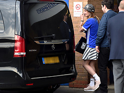 Cherry Seaborn leaves the ground after the game