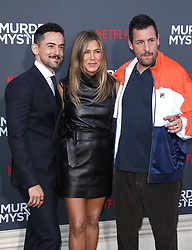 "LA Premiere Of Netflix's ""Murder Mystery"". 10 Jun 2019 Pictured: Luis Gerardo Méndez, Jennifer Aniston, Adam Sandler. Photo credit: Jaxon / MEGA TheMegaAgency.com +1 888 505 6342"