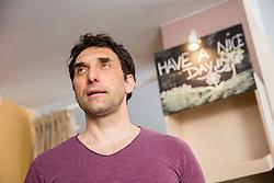 Denis Zvegelj, ex Slovenian rower and Olympic medallist. Portrait made on May 4, 2017 in his restaurant Zaživ vegan bistro, Ljubljana, Slovenia. Photo by Vid Ponikvar / Sportida