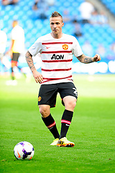 Manchester United's Alexander Buttner - Photo mandatory by-line: Dougie Allward/JMP - Tel: Mobile: 07966 386802 22/09/2013 - SPORT - FOOTBALL - City of Manchester Stadium - Manchester - Manchester City V Manchester United - Barclays Premier League