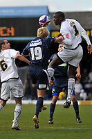 Photo: Tony Oudot/Richard Lane Photography. <br /> Southend United v Swansea City. Coca-Cola League One. 21/03/2008. <br /> Kevin Austin of Swansea clears from Lee Barnard of Southend