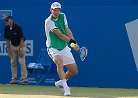 Tennis - 2017 Aegon Championships [Queen's Club Championship] - Day Three, Wednesday<br /> <br /> Men's Singles: Round of 16 _ Tomas Berdych (CZE) Vs Denis Shapovalov (CAN)<br /> <br /> Tomas Berdych (CZE) prepares for a backhand return at Queens Club<br /> <br /> COLORSPORT/DANIEL BEARHAM