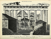 East View of the Parthenon or Temple of Minerva with the Interior Part converted into a Mosque by the Turks Copperplate engraving From the Encyclopaedia Londinensis or, Universal dictionary of arts, sciences, and literature; Volume II;  Edited by Wilkes, John. Published in London in 1810
