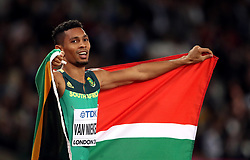 South Africa's Wayde Van Niekerk after winning the Men's 400m Final during day five of the 2017 IAAF World Championships at the London Stadium.