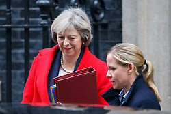 © Licensed to London News Pictures. 23/11/2016. London, UK. Prime Minister THERESA MAY leaves Downing Street before the autumn statement announcement on Wednesday, 23 November 2016. Photo credit: Tolga Akmen/LNP