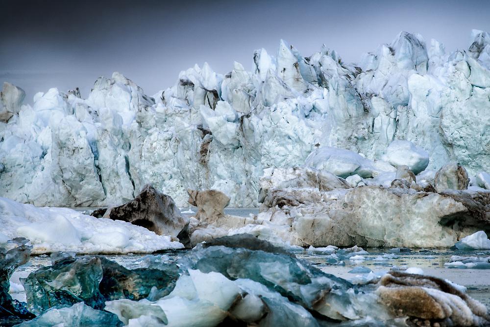 Glacier at Woodfjorden, Spitsbergen