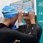 Katherine Gray,Katrina Gray is a twin sister participle Swim Serpentine 2018, London, UK. 22 September 2018.