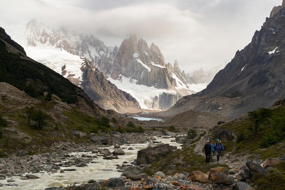 Cerro Torre and peaks of Torres del Paine National Park, Patagonia