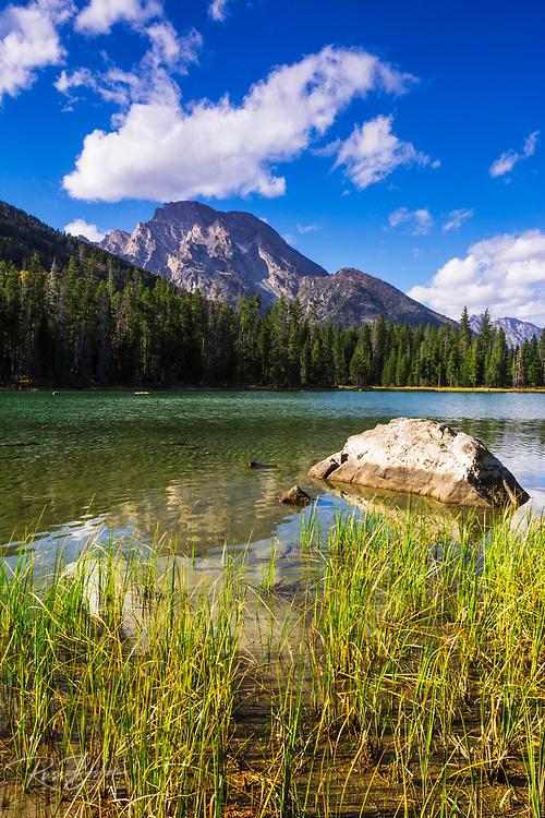 Mount Moran from String Lake, Grand Teton National Park, Wyoming USA
