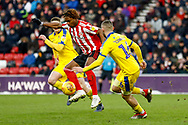 Sunderland forward Kazaiah Sterling (26), on loan from Tottenham Hotspur, in action  during the EFL Sky Bet League 1 match between Sunderland and AFC Wimbledon at the Stadium Of Light, Sunderland, England on 2 February 2019.