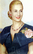 María Eva Duarte de Perón 7 May 1919 – 26 July 1952, was the second wife of President Juan Perón (1895–1974) and served as the First Lady of Argentina from 1946 until her death in 1952.