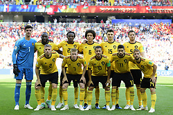 June 23, 2018 - Moscou, Russie - Moscow, Russia - June 23 : The players of Belgian National football team during the FIFA 2018 World Cup Russia group G phase match between Belgium and Tunisia at the Spartak Stadium on June 23, 2018 in Moscow, Russia 23/06/2018 (Credit Image: © Panoramic via ZUMA Press)