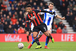 Bournemouth's Lys Mousset (left) and Brighton & Hove Albion's Dale Stephens battle for the ball during the Emirates FA Cup, third round match at the Vitality Stadium, Bournemouth.