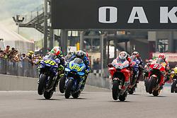 June 3, 2018 - Mugello, FI, Italy - The first lap of the MotoGP Oakley Grand Prix of Italy, at International  Circuit of Mugello, on May 31, 2018 in Mugello, Italy  (Credit Image: © Danilo Di Giovanni/NurPhoto via ZUMA Press)