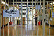 The entrance to the Voluntary Drug Testing Unit. HMP Wandsworth, London, United Kingdom.