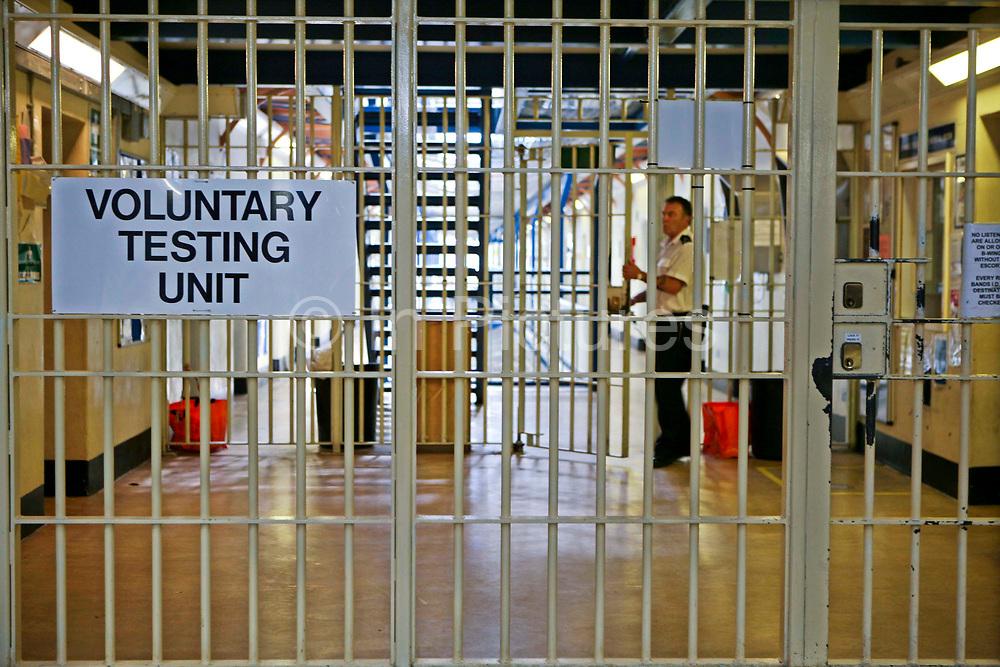 The entrance to the Voluntary Drug Testing Unit. HMP Wandsworth, London, United Kingdom.