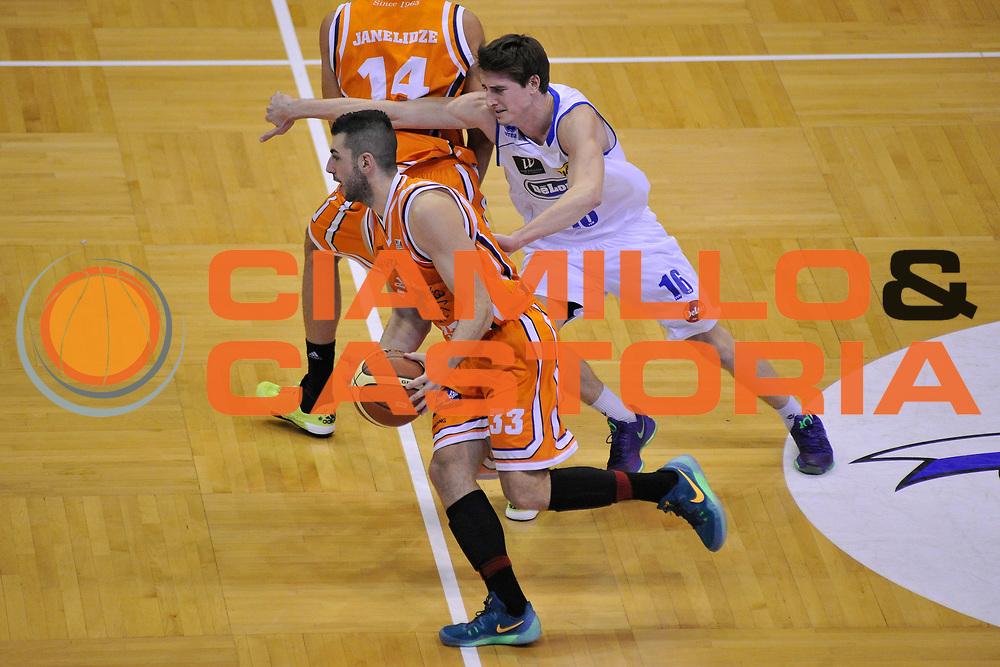 DESCRIZIONE : Treviso Lega due 2015-16  Universo Treviso De Longhi - Aurora Basket Jesi<br /> GIOCATORE : matteo negri<br /> CATEGORIA : blocco<br /> SQUADRA : Universo Treviso De Longhi - Aurora Basket Jesi<br /> EVENTO : Campionato Lega A 2015-2016 <br /> GARA : Universo Treviso De Longhi - Aurora Basket Jesi<br /> DATA : 31/10/2015<br /> SPORT : Pallacanestro <br /> AUTORE : Agenzia Ciamillo-Castoria/M.Gregolin<br /> Galleria : Lega Basket A 2015-2016  <br /> Fotonotizia :  Treviso Lega due 2015-16  Universo Treviso De Longhi - Aurora Basket Jesi