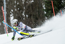 """Julien Lizeroux (FRA) competes during 1st Run of FIS Alpine Ski World Cup 2017/18 Men's Slalom race named """"Snow Queen Trophy 2018"""", on January 4, 2018 in Course Crveni Spust at Sljeme hill, Zagreb, Croatia. Photo by Vid Ponikvar / Sportida"""